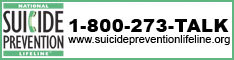 Suicide Hotline 1800-273-talk